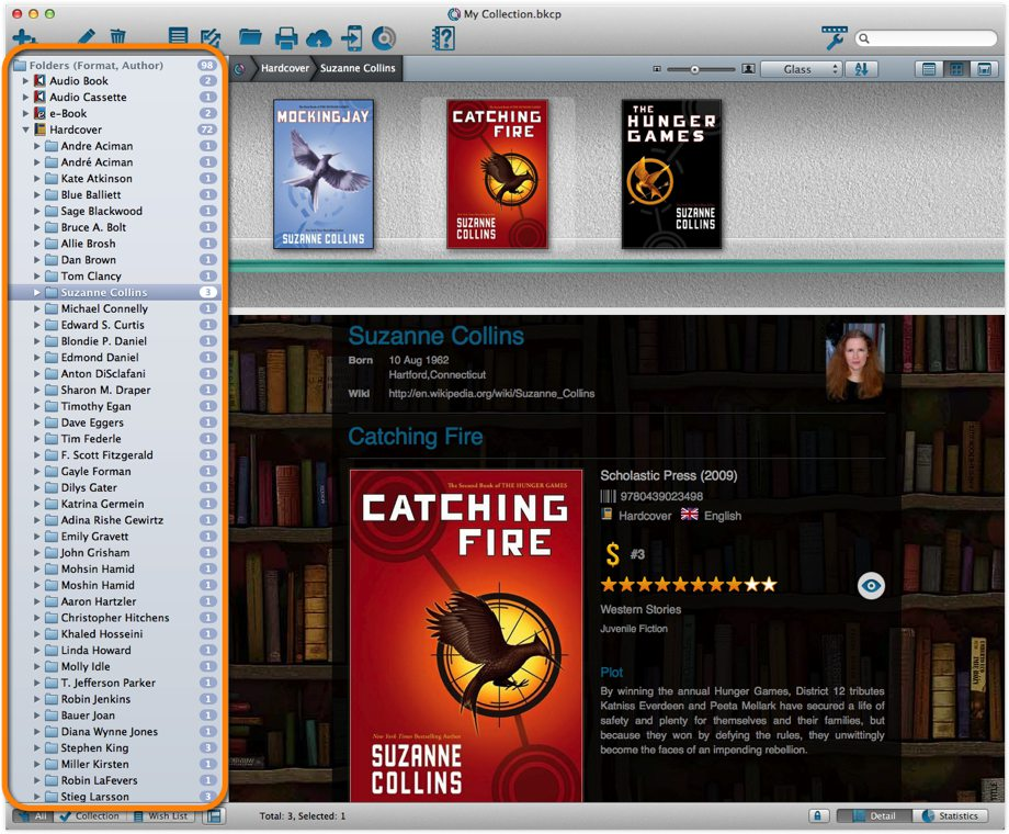Main Screen with Format, then Author Folders