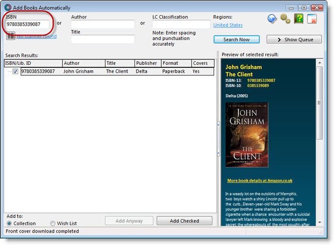 Add Books Automatically by ISBN