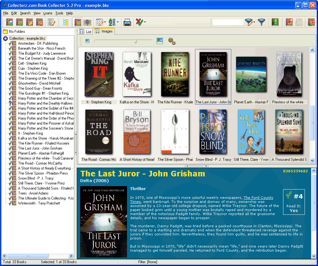 Book Database Software, catalog your books