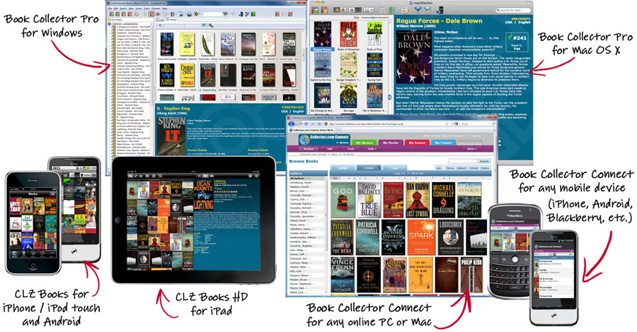 Book Collector for Windows, Mac OS X, iPhone and online