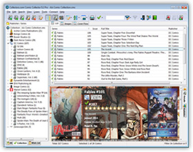 The Comic Collector Comic Book Cataloging Software in List View. Click for more screenshots.