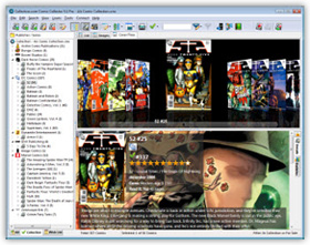 The Comic Collector Comic Book Cataloging Software in Cover Flow View. Click for more screenshots.