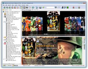 The Comic Collector Strip en Comic Verzameling Database Software in Cover Flow View. Klik hier voor meer scherm-afbeeldingen.