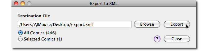 Export to XML