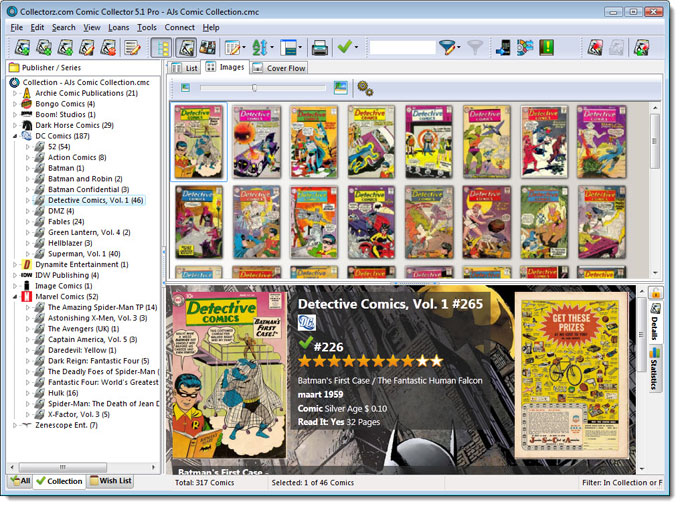 Main Screen in Images View