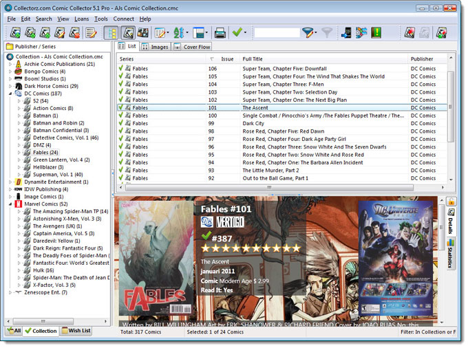 Main Screen in List View
