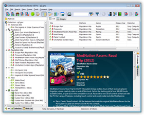 The Game Collector Video Game Cataloging Software in List View. Click for more screenshots.