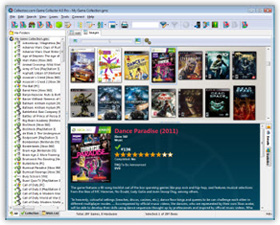 The Game Collector Video Game Cataloging Software in Cover Flow View. Click for more screenshots.