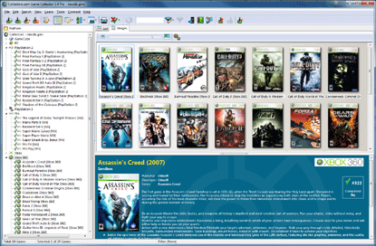 Game Collector Main Screen: Create A Personal Video Game Database With Game Collector