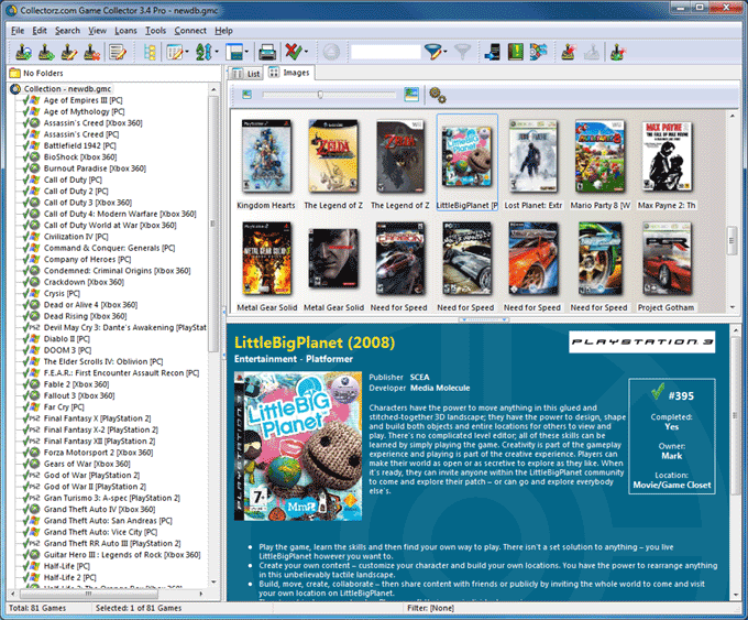 Collectorz com Game Collector Pro v3 0 5 TE    preview 0