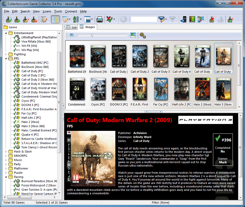 Collectorz com Game Collector Pro v3 0 5 TE    preview 1