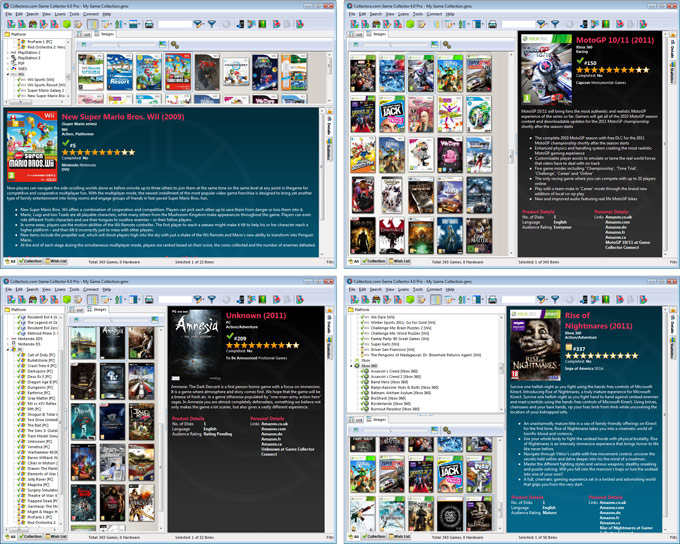 Click to view Collectorz.com Game Collector 12.8.1 screenshot