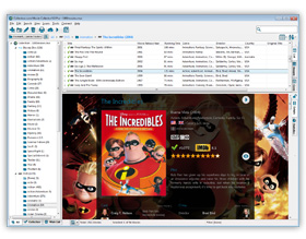 The Movie Collector Movie Library Software in List View. Click for more screenshots.