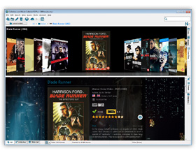 The Movie Collector DVD Database Software in Cover Flow View. Click for more screenshots.