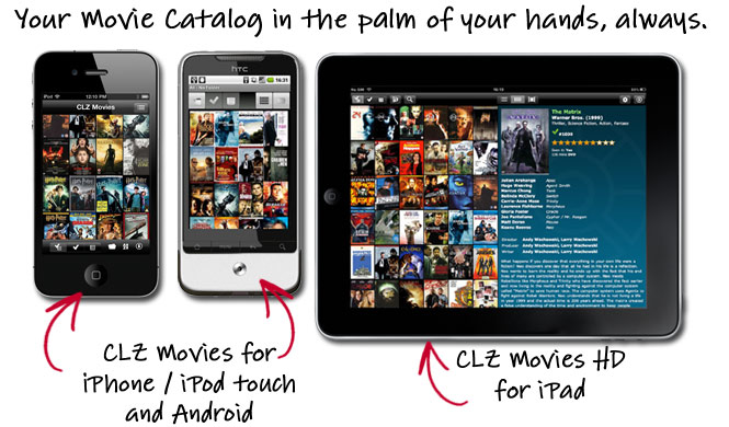 Browse your movie catalog on iPhone, iPad and Android