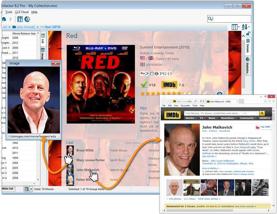 movie database software free imdb