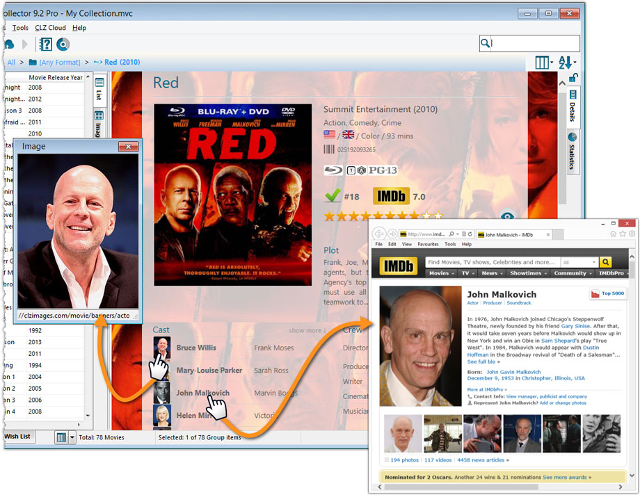 Actor/Director Headshots and IMDb Links