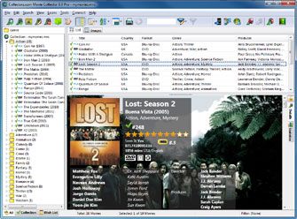Main screen with Genre Folders / List View