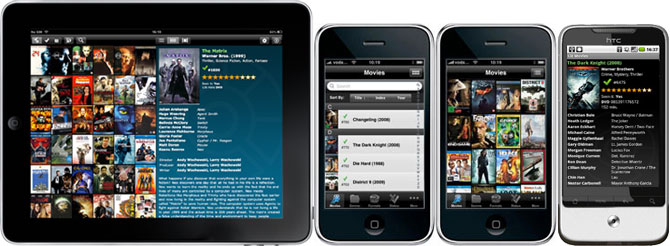 View your movie database on iPhone, iPad and Android