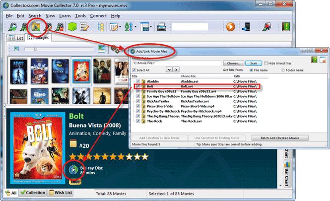 Organizing your Movie Files with Movie Collector