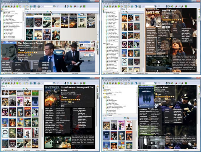 Catalog DVDs, Blu-Ray discs and movie files. Automatic cast, crew & cover art.