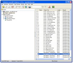 The MP3 Collector Music file database and tagging software in Images View. Click for more screenshots.