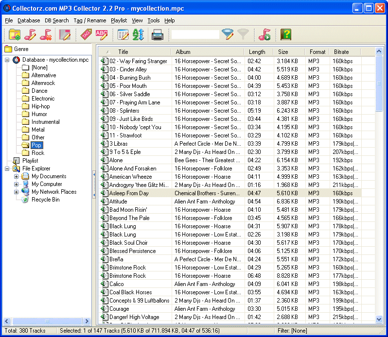 Click to view Collectorz.com MP3 Collector 2.3.1 screenshot