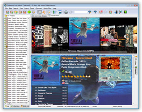 The Music Collector Music Database Software in Cover Flow View. Click for more screenshots.
