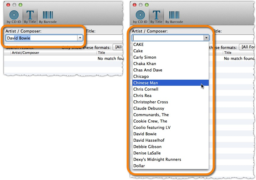 Add Albums Automatically Autocomplete and Dropdown box