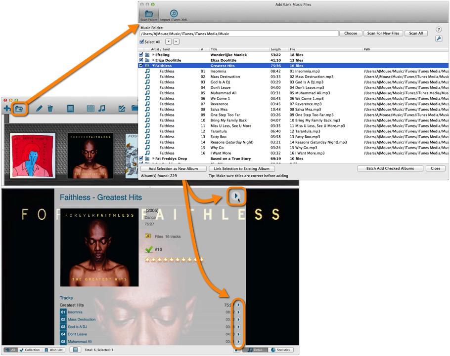 Link Music Files