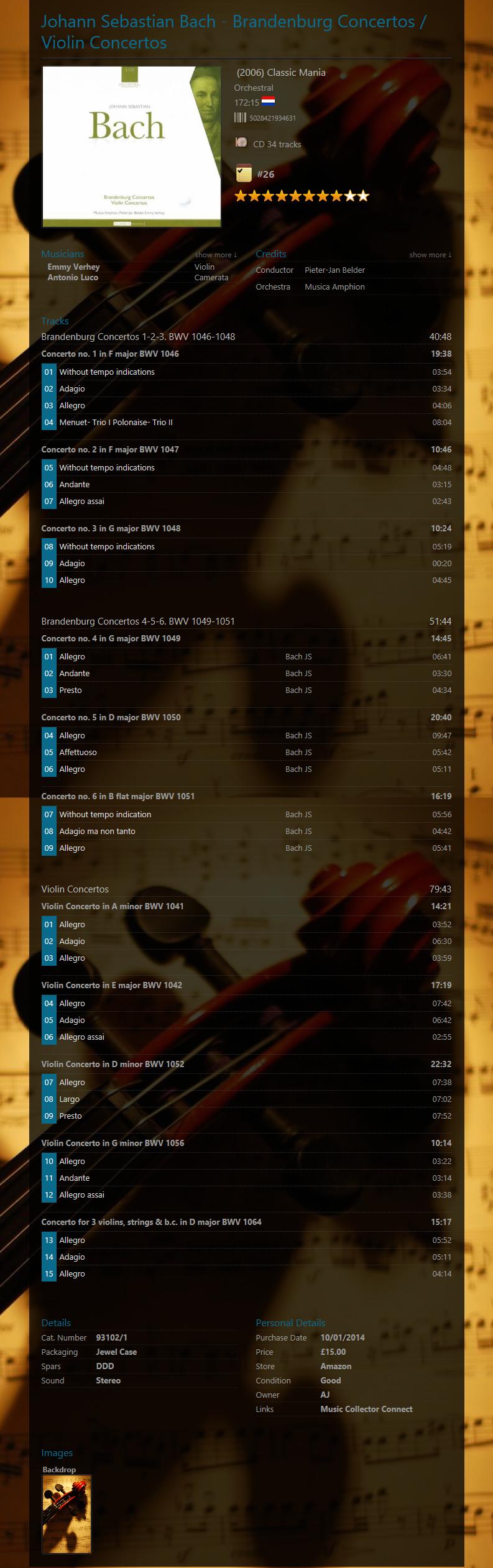 Cataloging Classical Music