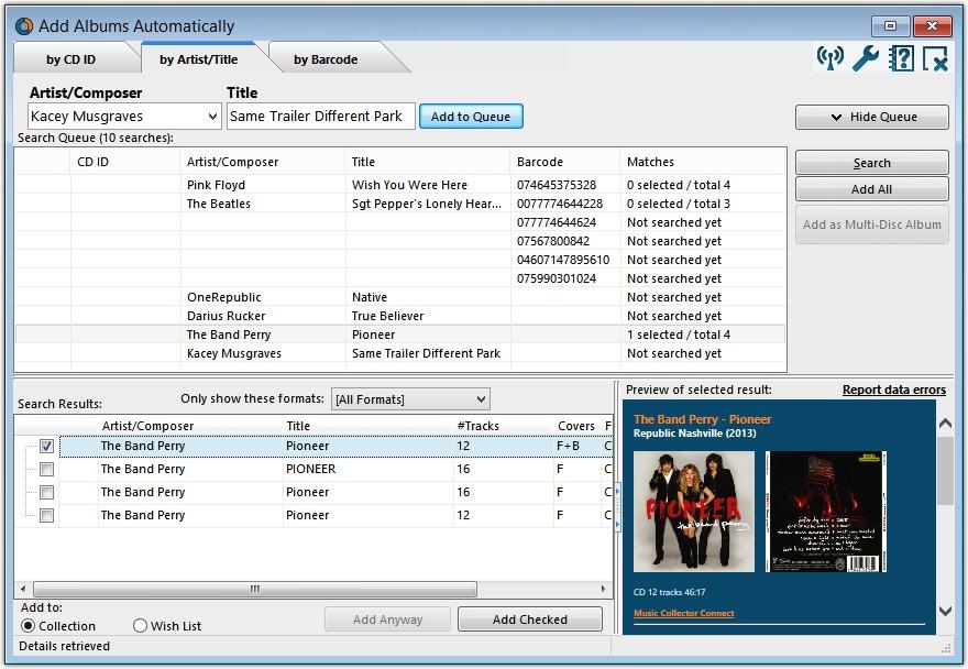 Add Albums Automatically