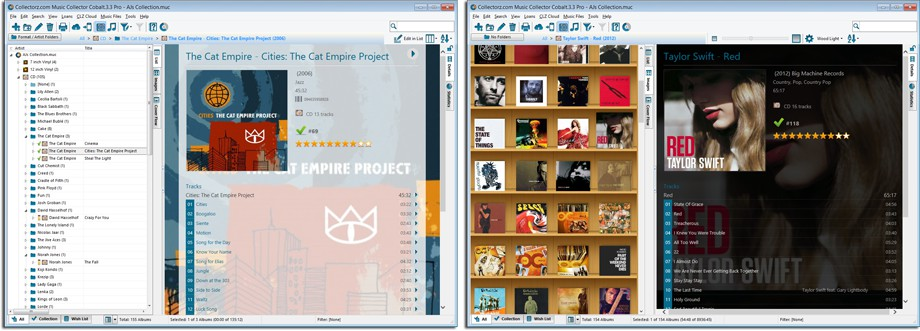 Example main screen layouts