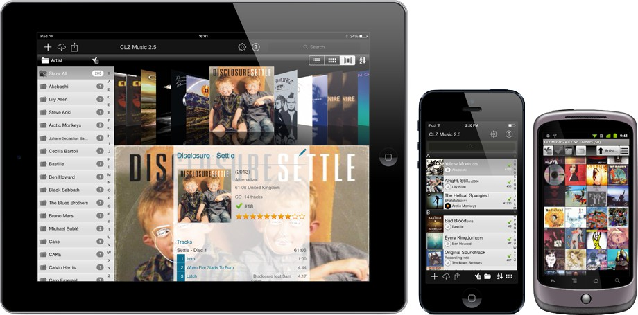 Export your collection to iPhone, iPad or Android