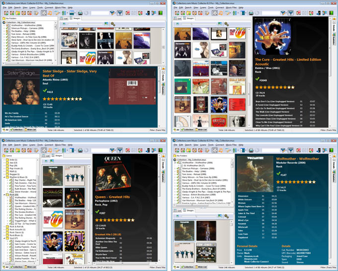 Click to view Collectorz.com Music Collector 10.0.2 screenshot