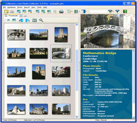 The Photo Collector Photo database software in Images View. Click for more screenshots.