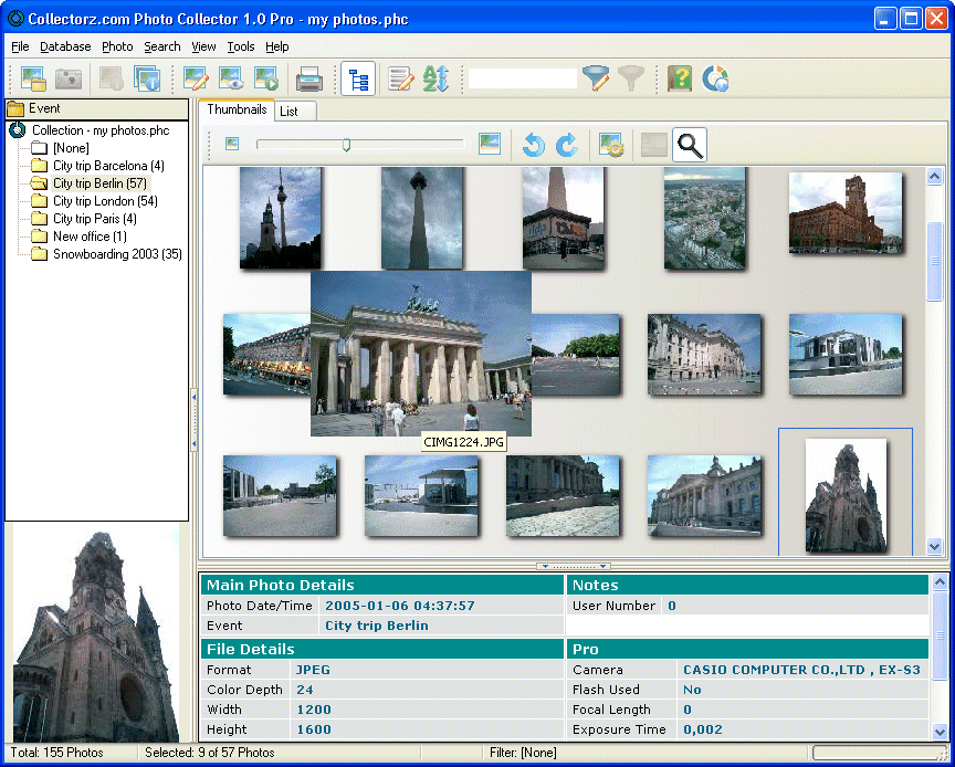 Catalog, view and edit your digital photos