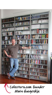 Collectorz.com founder Alwin Hoogerdijk and his collection