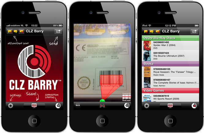 Barcode scanner app for iPhone and Android