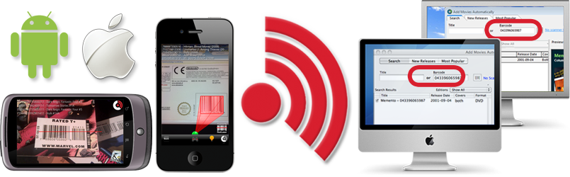 Mobile barcode reader app